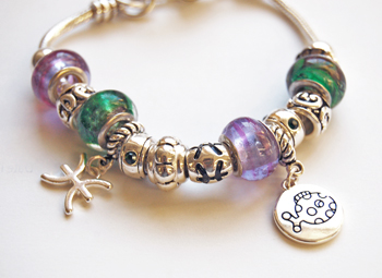 Ambrosia Zodiac Theme Charm Bracelet Pisces
