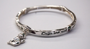 Insirational Dog Message Scroll Stretch Bracelet