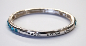 Inspirational Magic, Love, Dream Scroll Stretch Bracelet