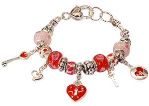 "Ambrosia "" Locked heart"" Theme Charm Bracelet"