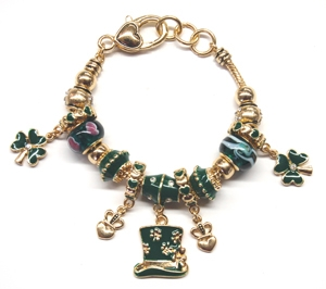 "Ambrosia ""St Patty's Day"" Theme Charm Bracelet"