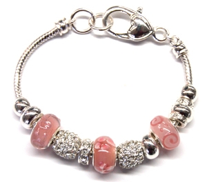 Ambrosia Dusty Rose Charm Bracelet