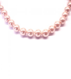 Maresca 8mm Pale Pink Glass Pearl Necklace