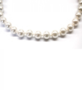 Maresca 8mm White Glass Pearl Necklace