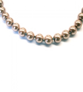 Maresca 8mm Mocha Glass Pearl Necklace