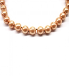 Maresca 8mm Mango Glass Pearl Necklace