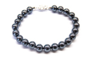 Maresca 8mm Grey Glass Pearl Bracelet