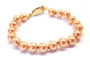 Maresca 8mm Mango Glass Pearl Bracelet