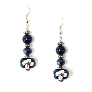 Ambrosia Earring: Drop, Black