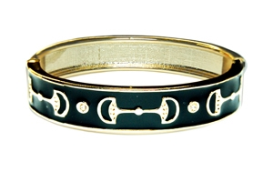 Enamel Stack bngle, Black / Goldtone Designs