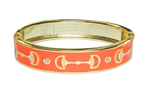 Enamel Stack Bangle, Orange / Goldtone Designs