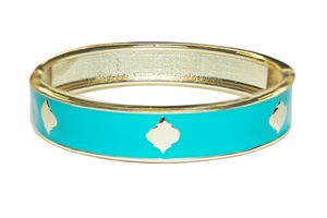 Enamel Stack Bangle, Blue / Goldtone