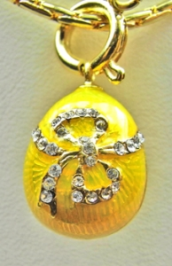 CZ Bow Pendant, Yellow