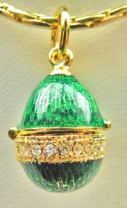 CZ Center Locket Pendant, Green
