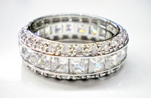 Diamondess SS PP, Channel Set CZ Band Ring