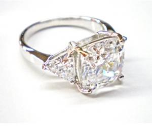 Diamondess SS PP, 3 Stone CZ Ring