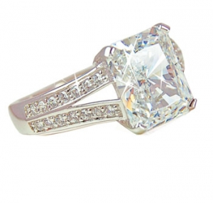 Diamondess SS, PP, Square CZ Solitaire